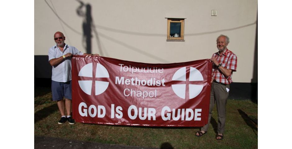 Tolpuddle 2014 - New Methodist Chapel Banner First View