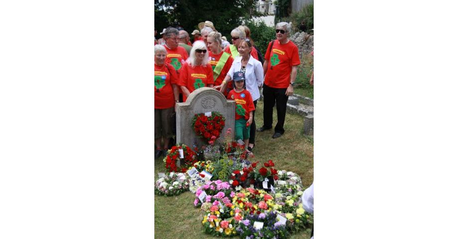 Tolpuddle 2014 - Wreath Laying First View
